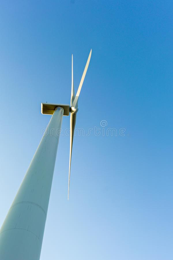 Windmill for electric power production. alternative energy stock photo