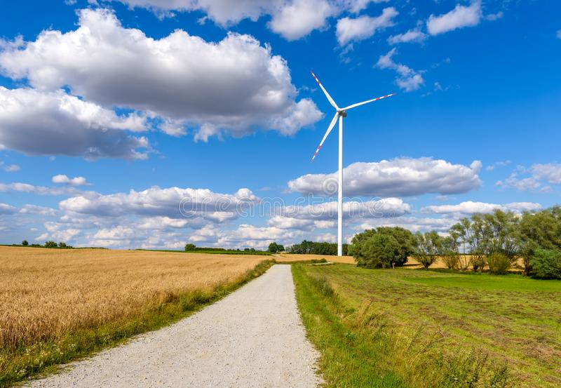 Windmill for electric power production royalty free stock photo