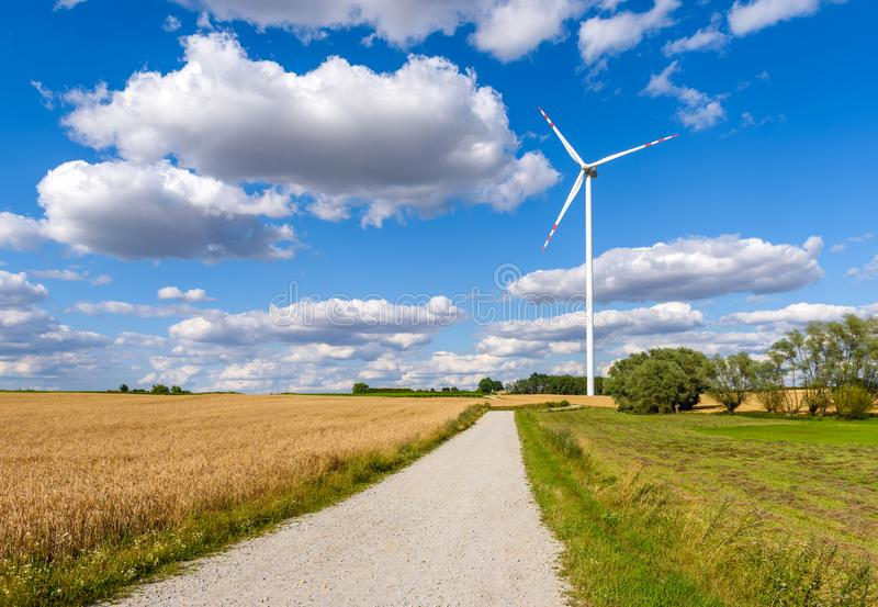 Windmill for electric power production royalty free stock photos