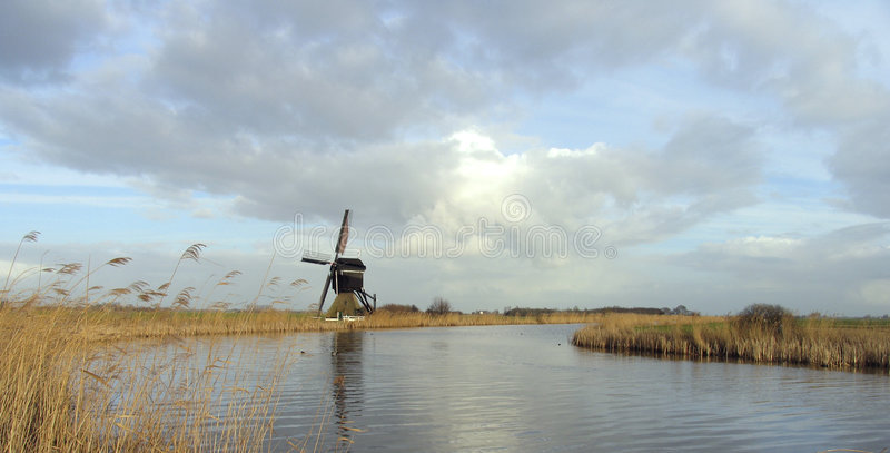 windmill för holländare 10 royaltyfria bilder