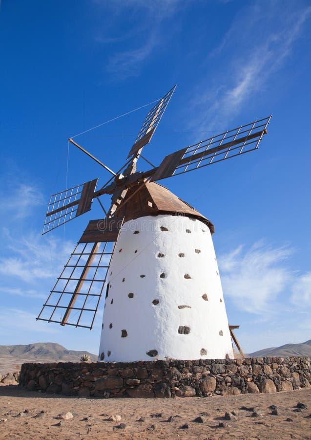 windmill för kanariefågelfuerteventura öar arkivfoton