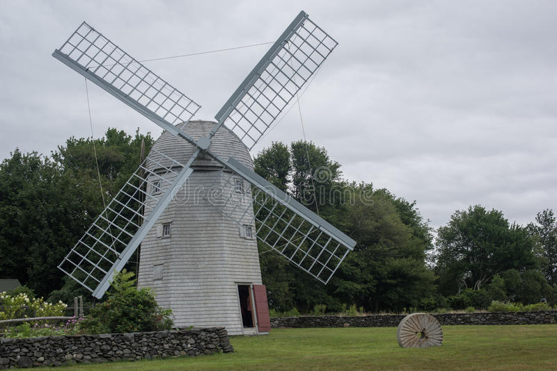 Windmill. In field in Jamestown, Rhode Island stock photography