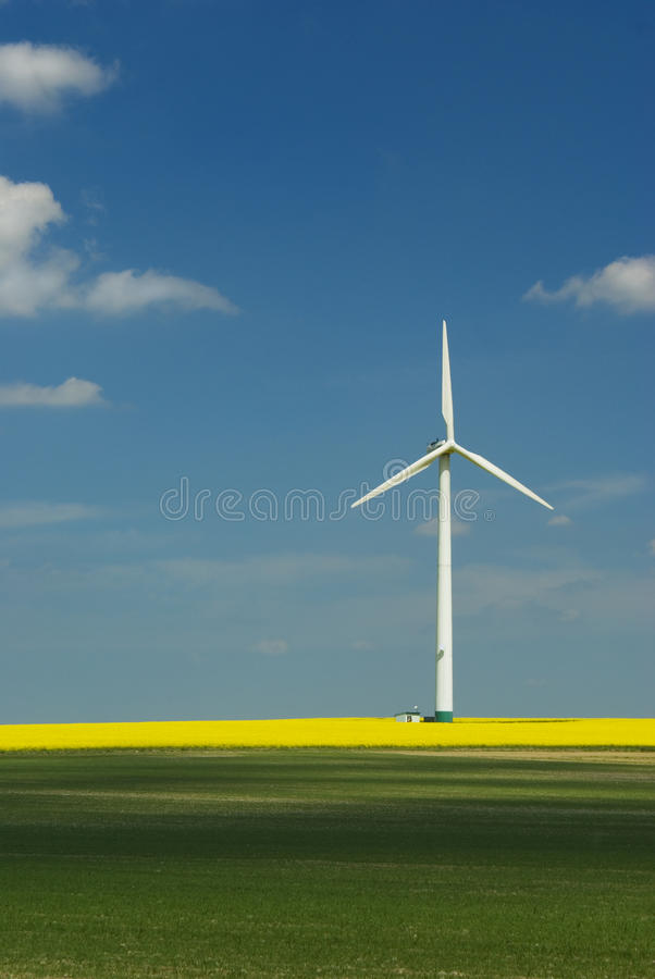 Windmill generating power royalty free stock photography