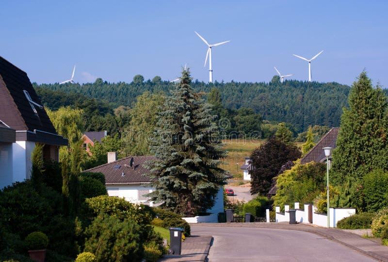 Windmill generators in Germany royalty free stock photo