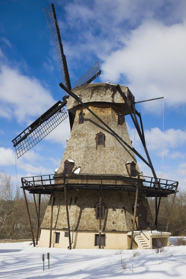 Windmill in Geneva royalty free stock photo