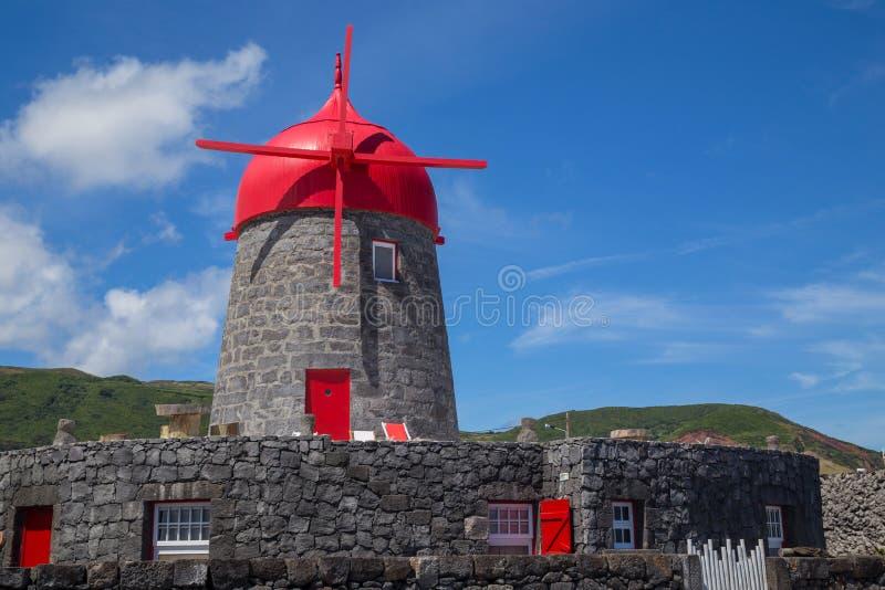 Windmill on Graciosa Island stock images