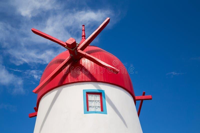 Windmill on Graciosa Island royalty free stock image