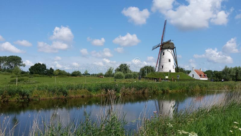 Windmill, Grassland, Nature Reserve, Waterway Free Public Domain Cc0 Image