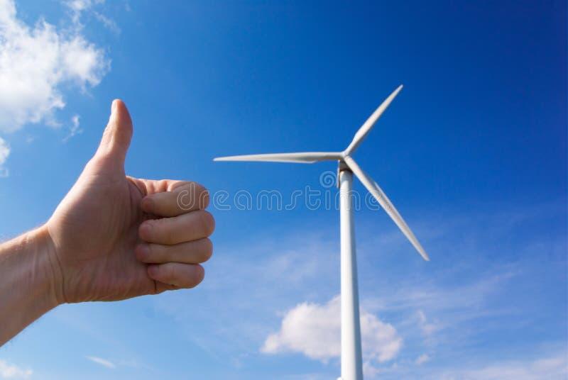 Windmill green energy stock image