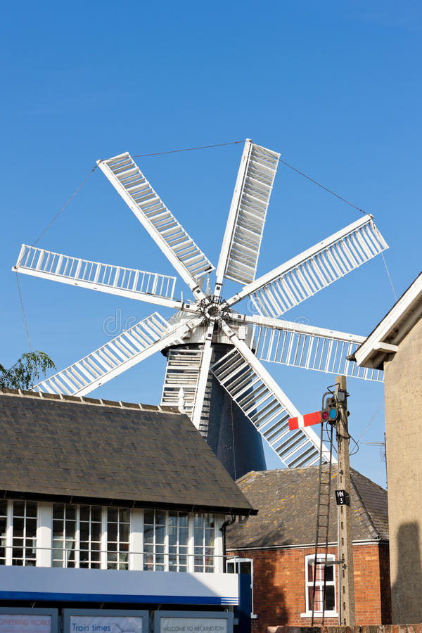 Download Windmill in Heckington stock image. Image of locations - 24225641