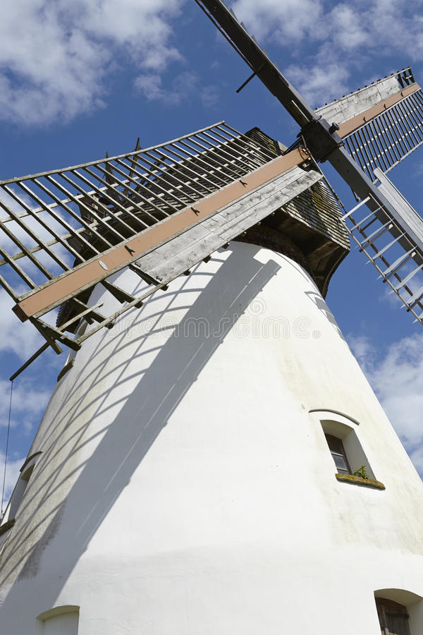 Windmill Heimsen (Petershagen, Germany). The windmill Heimsen (Petershagen, Germany) is a dutch type of windmill and is part of the Westphalia Mill Street ( stock image
