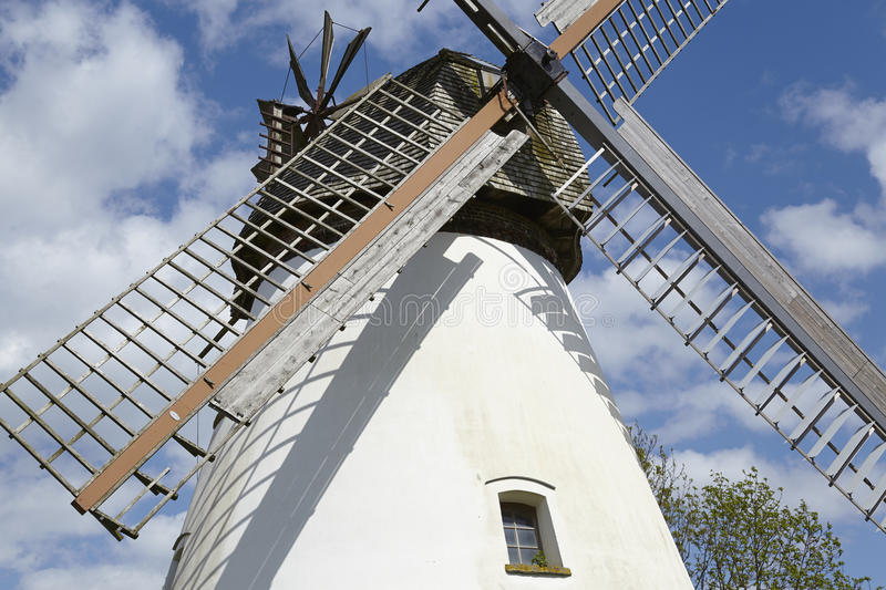 Windmill Heimsen (Petershagen, Germany). The windmill Heimsen (Petershagen, Germany) is a dutch type of windmill and is part of the Westphalia Mill Street ( royalty free stock images