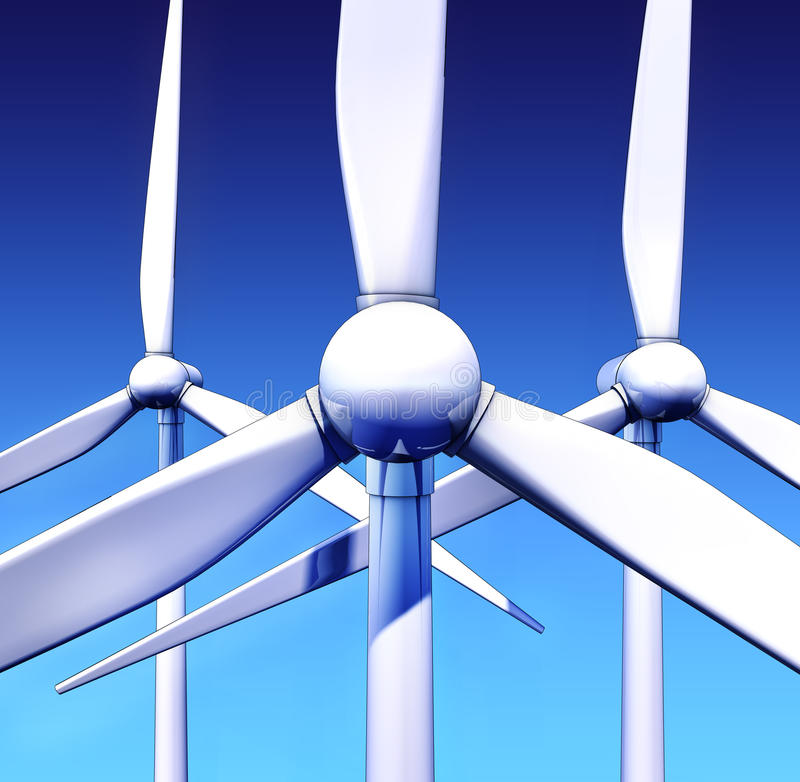 Download Windmill stock illustration. Image of vision, energetic - 32228057