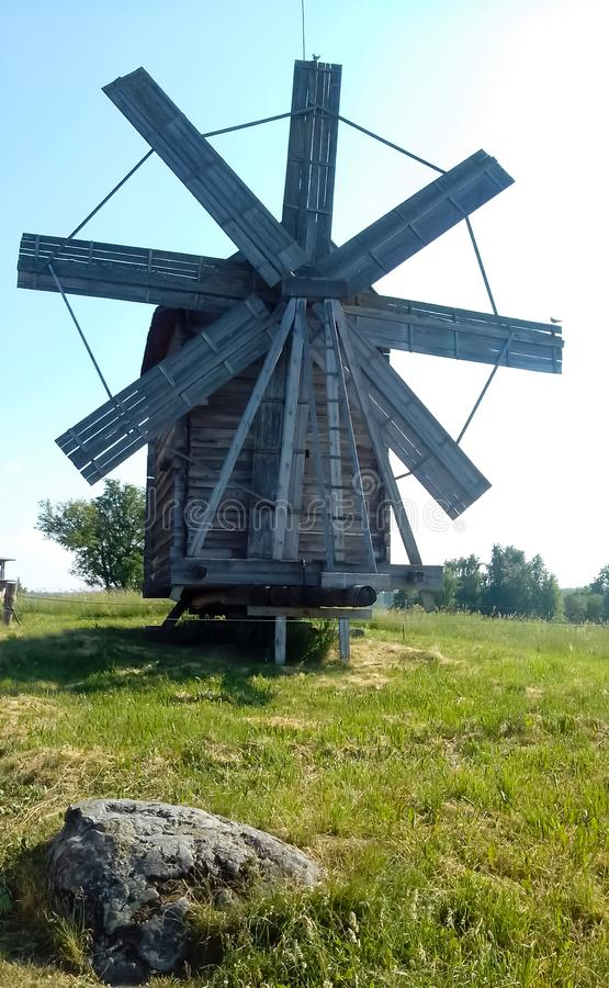 Windmill on the hill. royalty free stock images