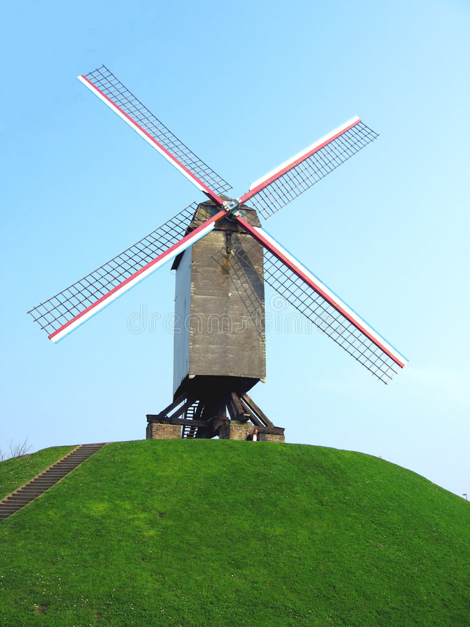 Windmill on hill royalty free stock images
