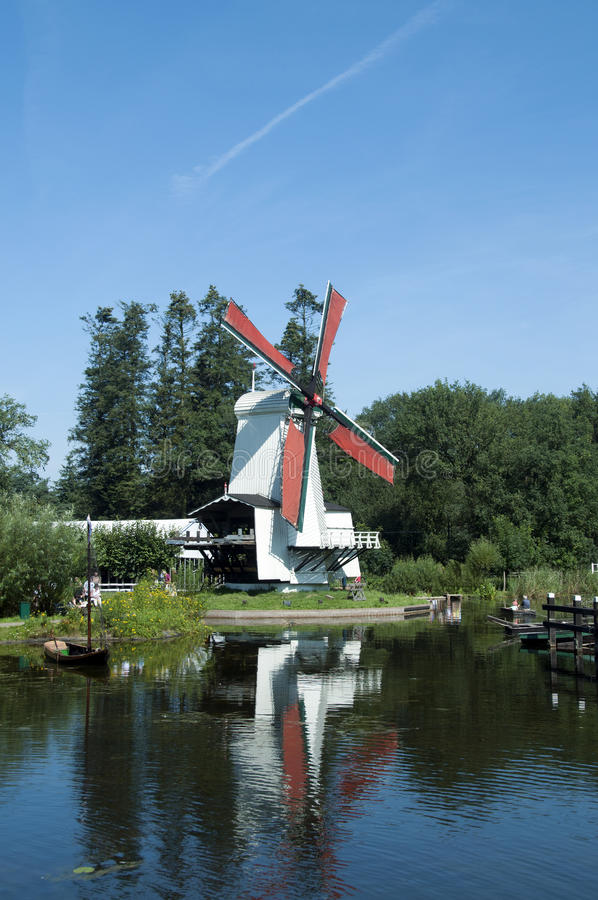 Download Windmill in Holland stock photo. Image of horizon, boat - 20697196