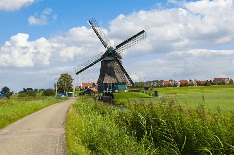 Windmill in Holland stock photography