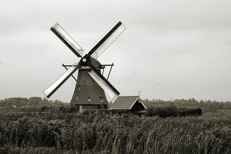Download Windmill in Holland stock image. Image of outdoor, destination - 7428653