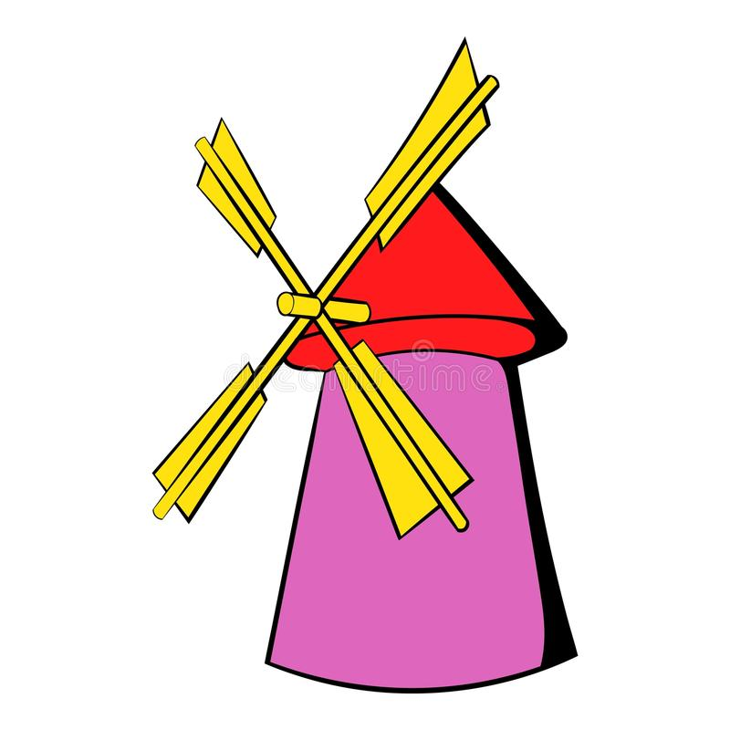 Download Windmill icon cartoon stock vector. Illustration of farmstead - 88448007