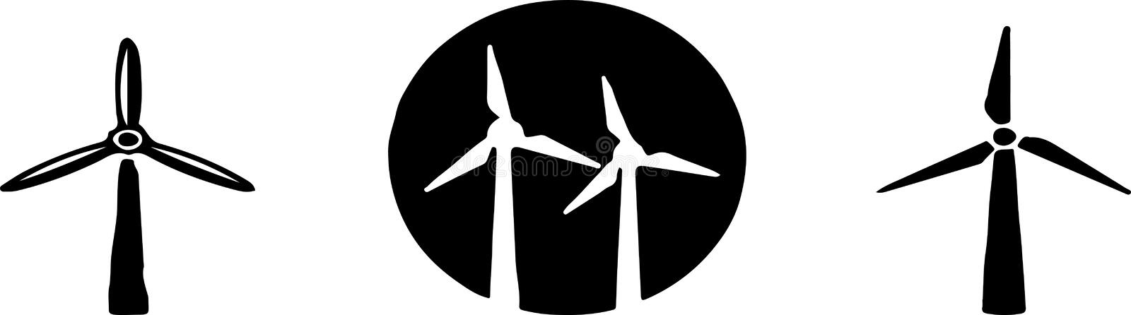 Windmill icon isolated on background.  vector illustration