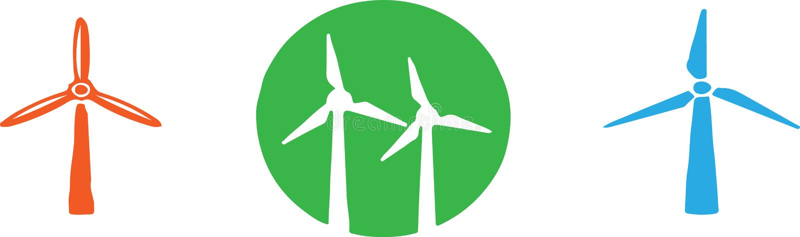 Windmill icon isolated on background.  stock illustration