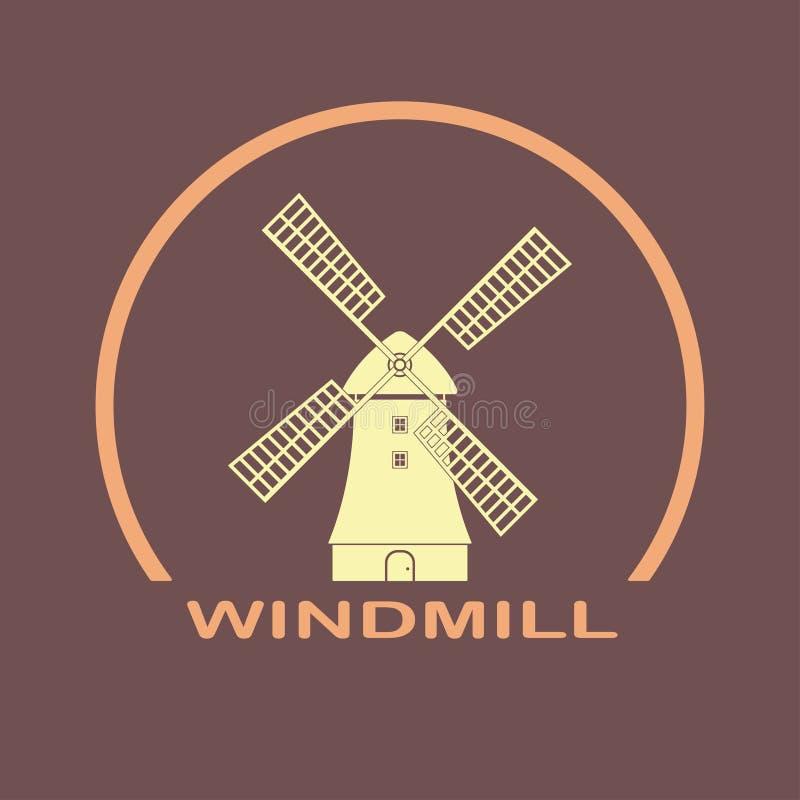 Windmill icon. Mill emblem and Holland symbol. Vector illustration. Windmill icon. Mill emblem and Holland symbol. Vector illustration stock illustration