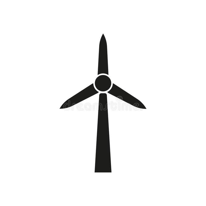 Windmill Icon. Power And Renewable, Generator, Ecology Symbol. Flat ...