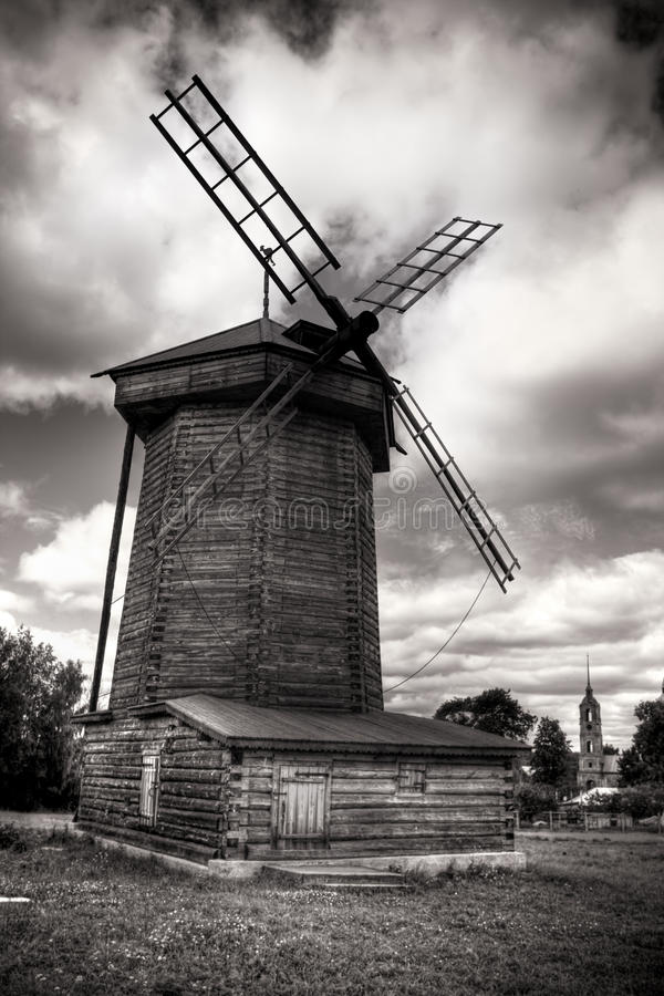 Free Windmill In Russian Countryside Stock Photos - 10196563