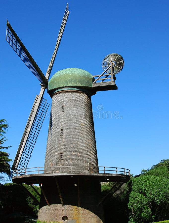 Free Windmill In The Park Royalty Free Stock Photos - 3483838