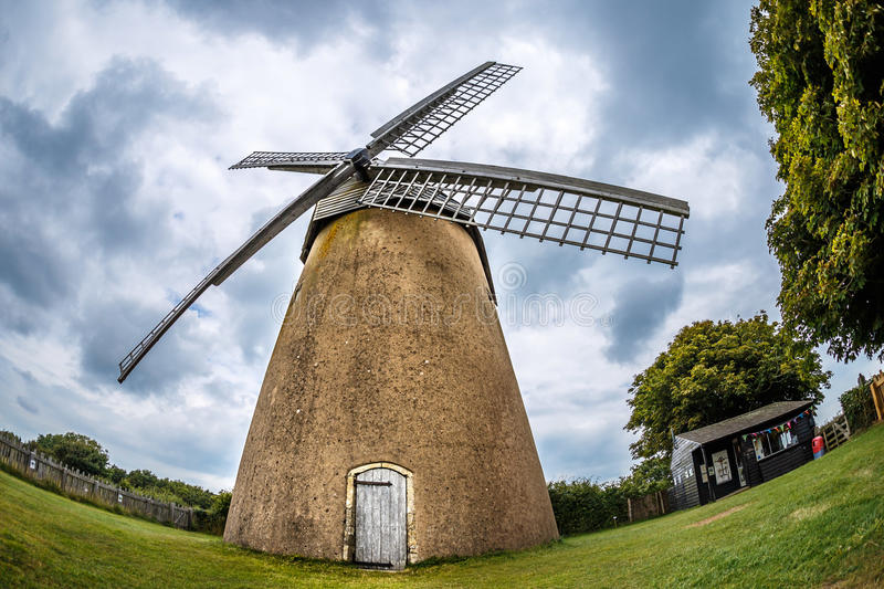 Windmill on Isle of Wight in summer. Isle of Wight in summer, England, UK royalty free stock images