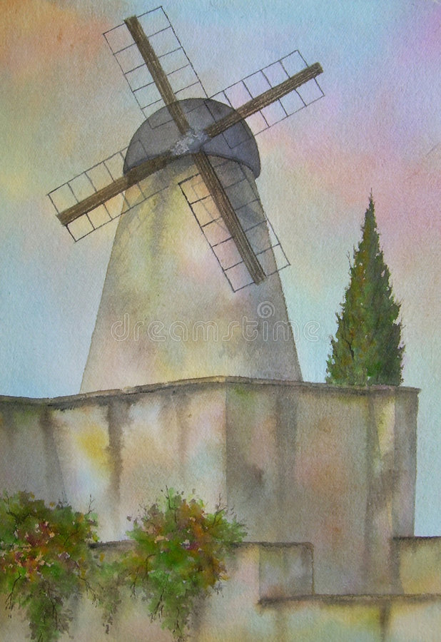 Download Windmill, Jerusalem, Israel Stock Illustration - Image: 3112175