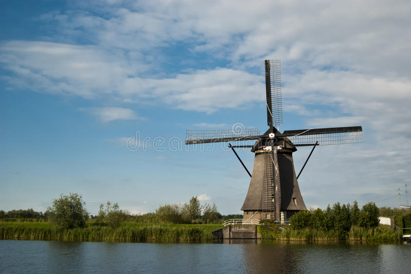 Windmill at Kinderdijk stock image