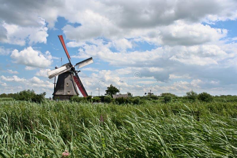 Windmill at Kinderdijk stock photos