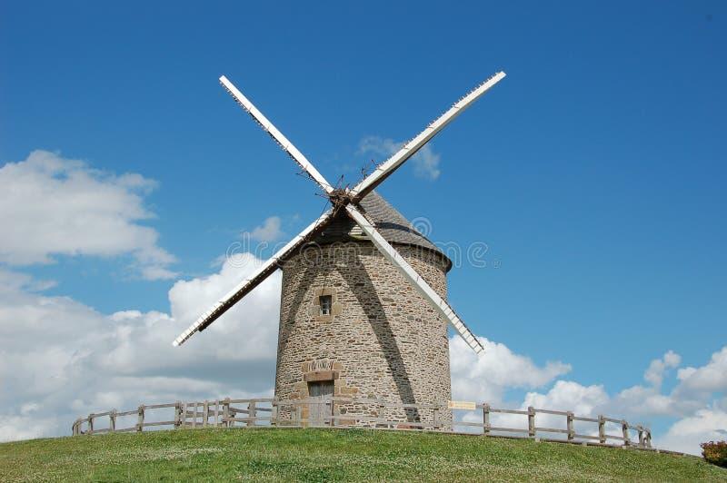 Windmill La Batie, France stock photos