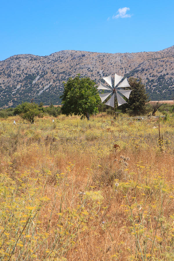 Download Windmill In The Lasithi Plateau Stock Photo - Image: 22007676