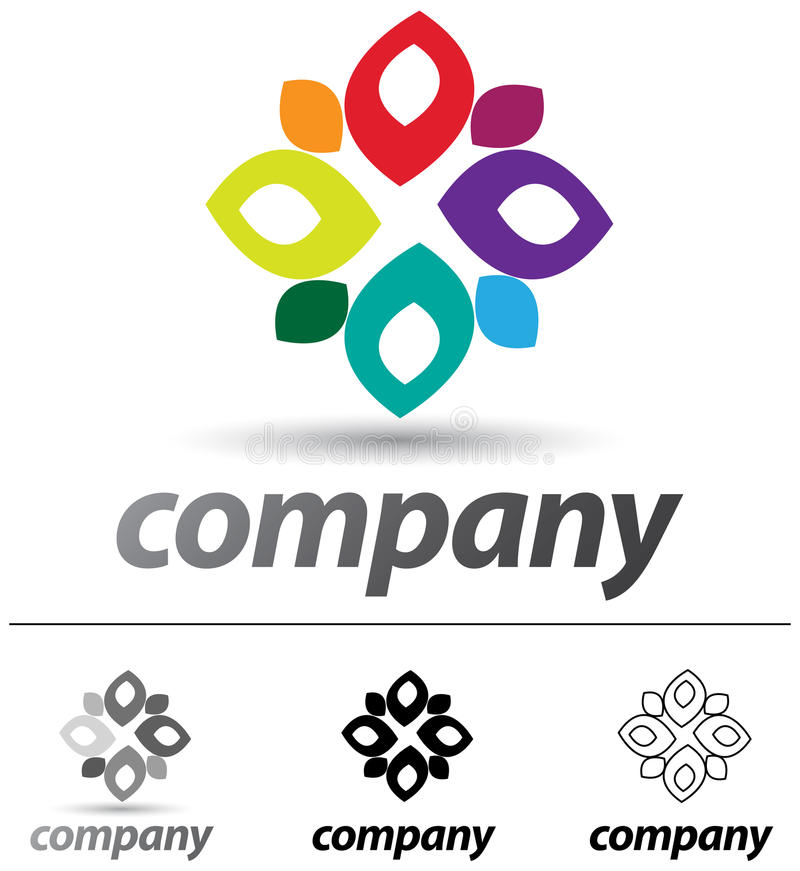 Windmill Logo stock illustration