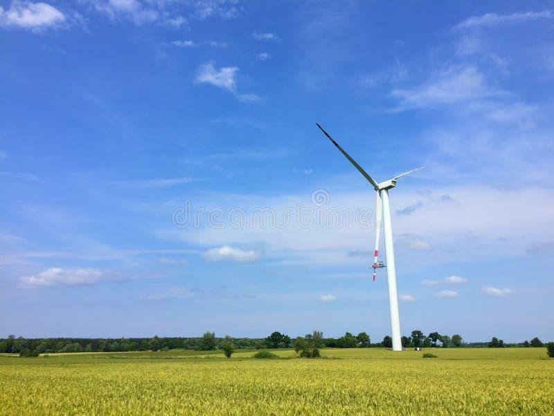Windmill maintenance royalty free stock photography