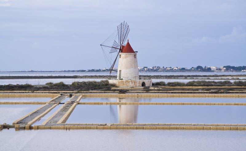 Windmill in Marsala royalty free stock image