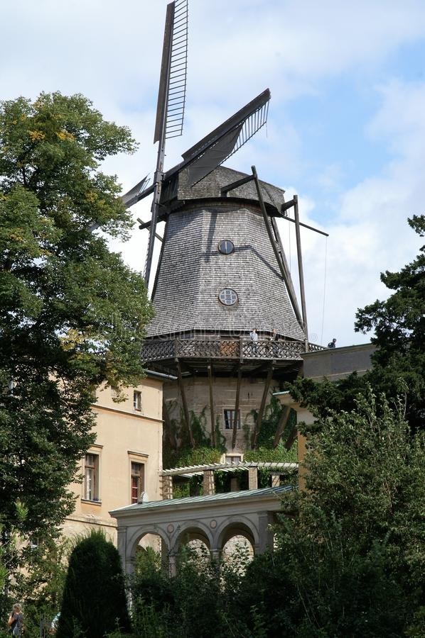 Windmill, Mill, Building, Tree stock image