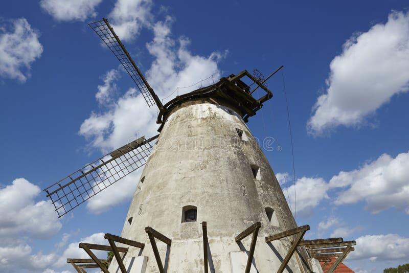 Windmill Minden (Germany). The unrestored windmill Minden (Germany) is part of the Westphalia Mill Street (Westfaelische Muehlenstrasse) in the rural district royalty free stock photos