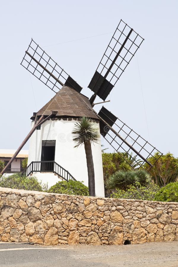 Molino De Antigua, Fuerteventura. The windmill Molino De Antigua near Antigua, Fuerteventura stock photography