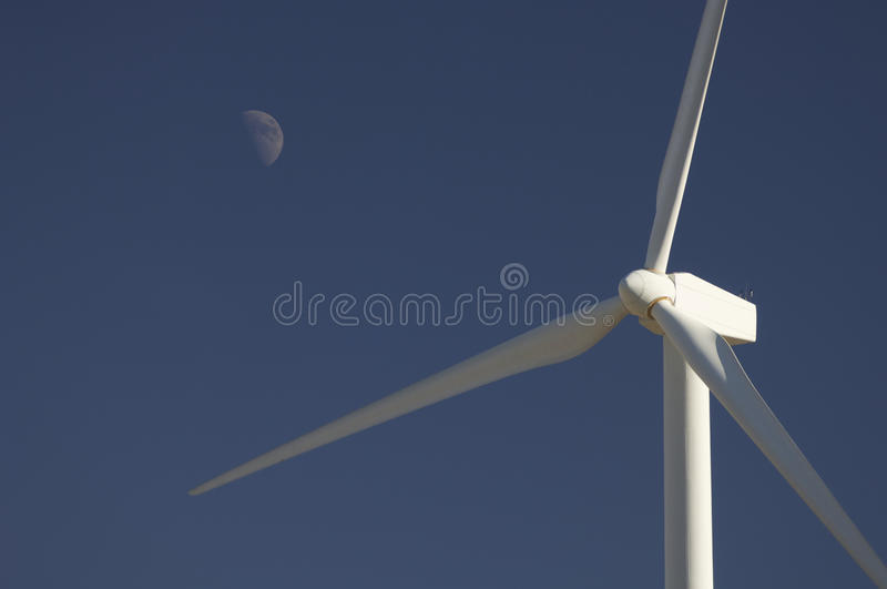 Download Windmill and moon stock image. Image of electricity, global - 11584305