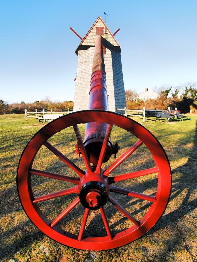 Windmill on Nantucket stock photo