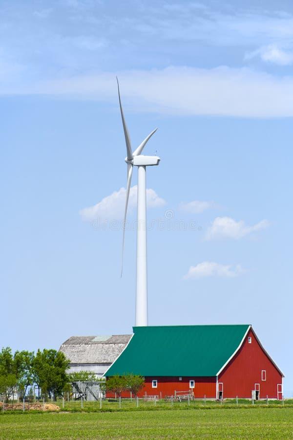 Windmill near the farm royalty free stock image