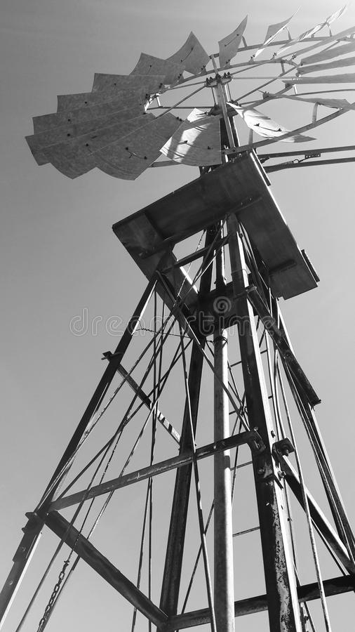 Windmill near Matjiesfontein, Great Karoo, South Africa. These windmills are plentiful in the Great Karoo and are almost a symbol of the area royalty free stock photography