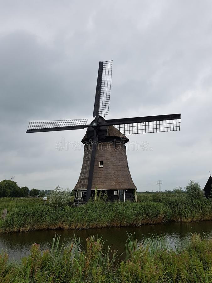 Windmill in the Netherlands royalty free stock images