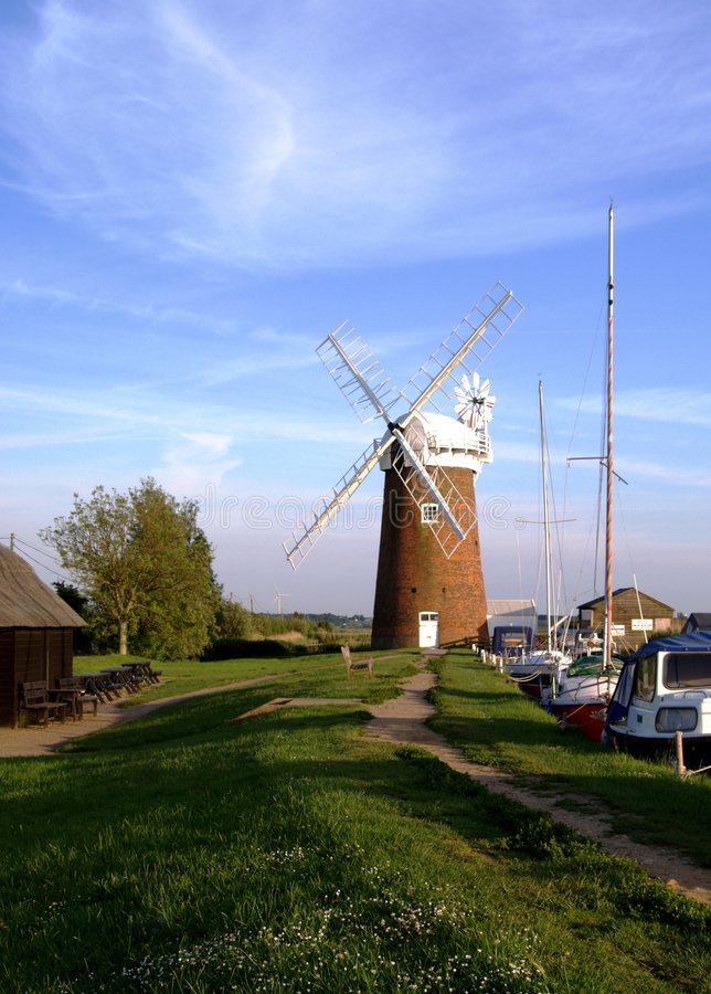 Download Windmill On The Norfolk Broads Stock Image - Image: 5418981