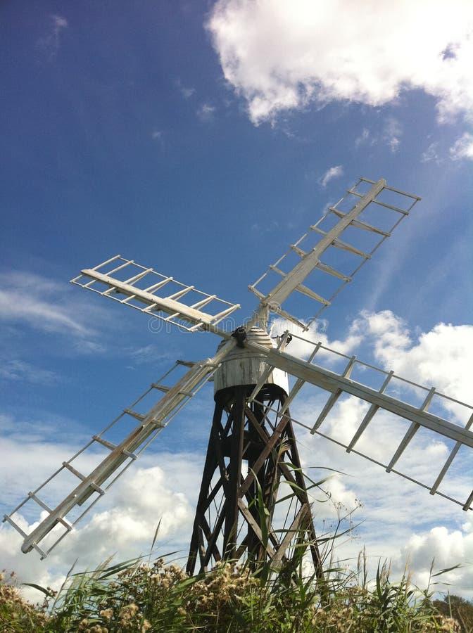 Windmill on the Norfolk Broads stock photos