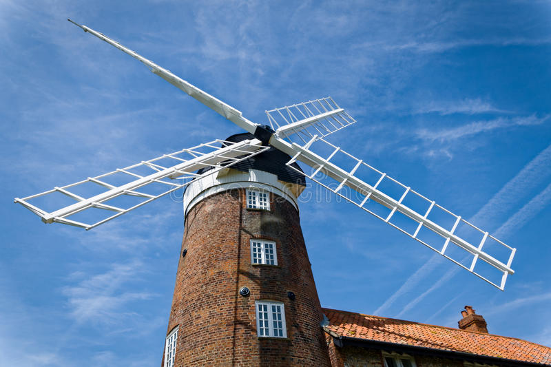 Windmill in Norfolk, England royalty free stock image
