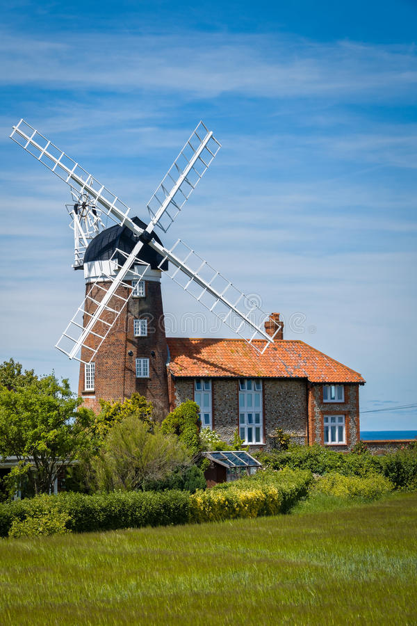 Windmill in Norfolk, England stock image